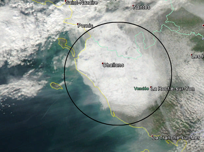 Image satellite MODIS du 26/11/2005